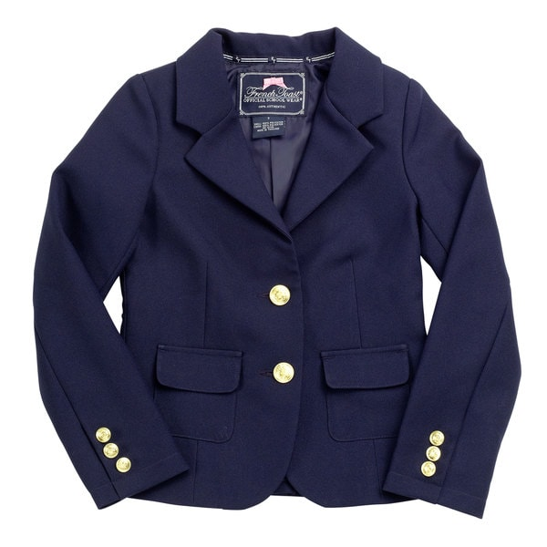 French Toast Girl's Navy Blue Polyester Dress Blazer
