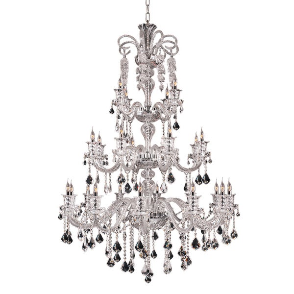 Elizabeth Collection Steel Crystal Chandelier