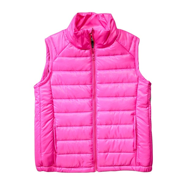 French Toast Girls' Pink Puffer Vest