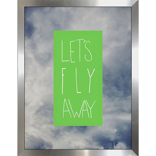 "Leah Flores ""Lets Fly Away"" Framed Wall Art"