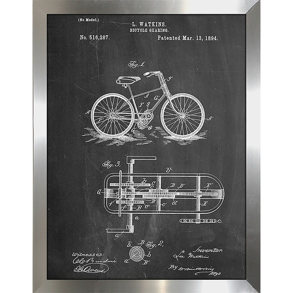 "Cole Borders ""Bicycle E"" Framed Wall Art"