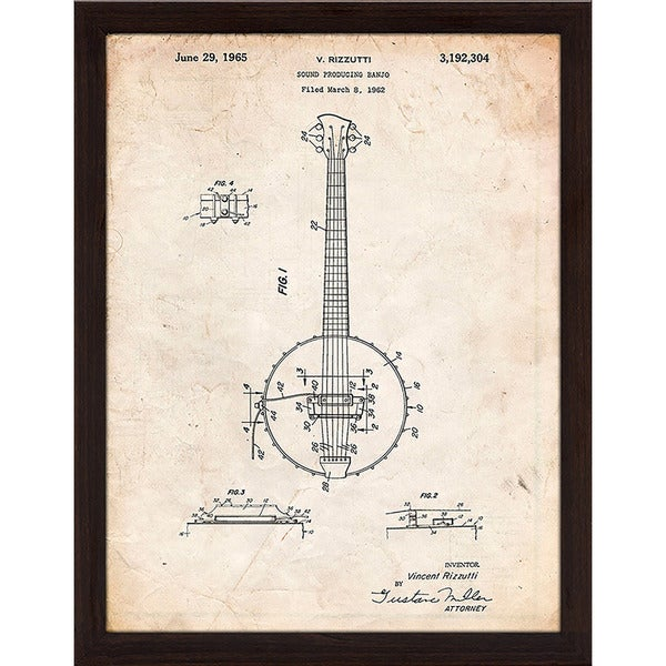 "Cole Borders ""Banjo C"" Framed Wall Art"