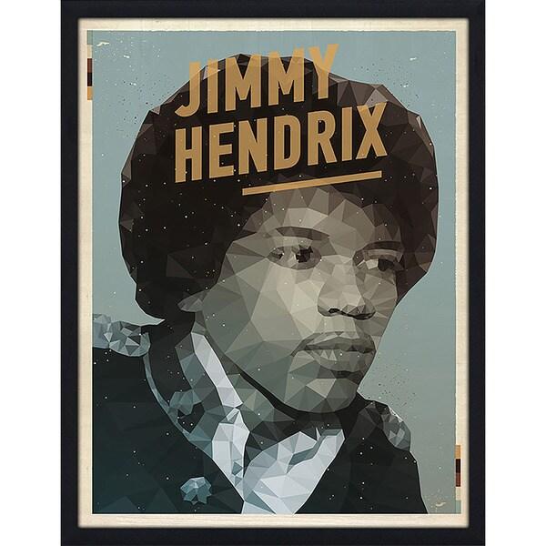 "American Flat ""Jimi Hendrix"" Framed Wall Art"