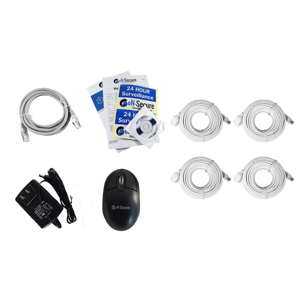 eN-Secure 8-channel 2 1080p HD 2MP Bullet, 2 Dome Cameras, and 1TB Hard Drive NVR CCTV Kit