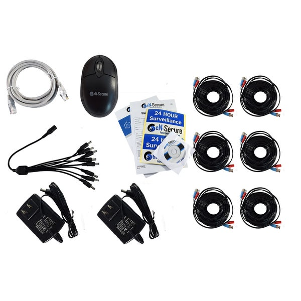 eN-Secure 8 Channel DVR CCTV Kit with 3 1080p HD 2MP Bullet, 3 Dome Cameras and 2TB Hard Drive