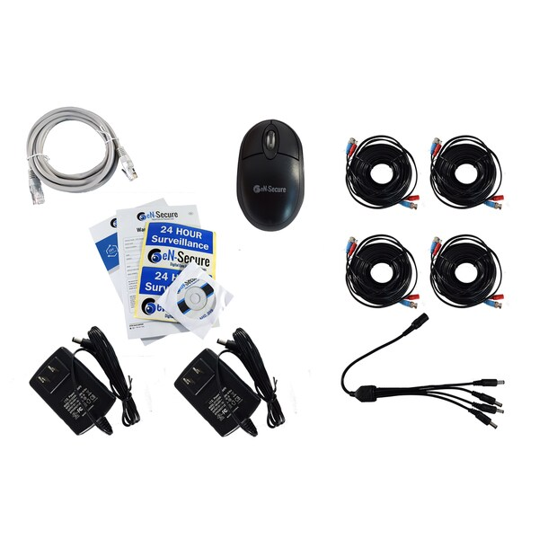 eN-Secure 8-channel DVR CCTV Kit with 4 1080p HD 2MP Bullet Cameras and 2TB Hard Drive