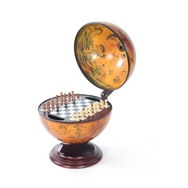 13-inch Red Globe Chess Holder