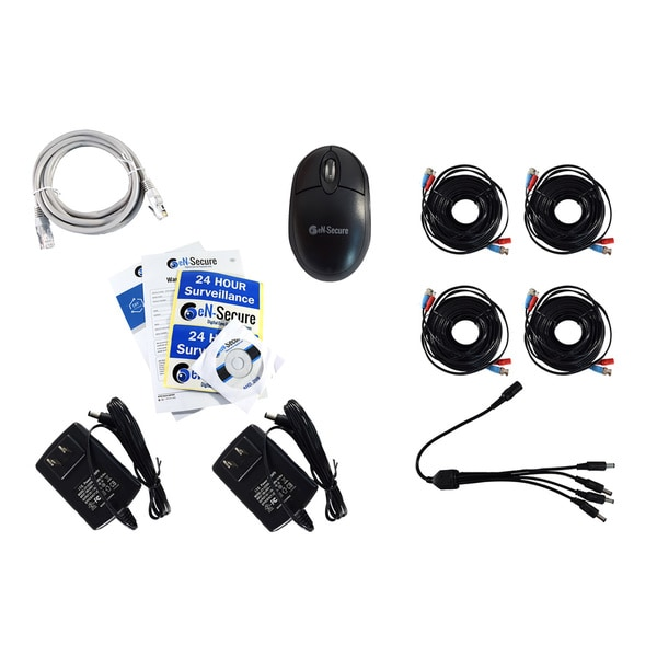 eN-Secure 4-Camera Security System Kit (8-Channel DVR CCTV / 1080p HD)