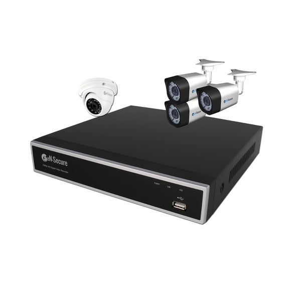 eN-Secure 8-channel DVR CCTV Kit With 3 1080p HD 2MP Bullet Cameras, 1 Dome Camera, and 2TB Hard Drive
