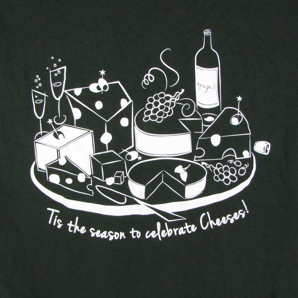 Gildan 100% Cotton Mens Tis The Season To Celebrate Cheeses Short Sleeve T-Shirt