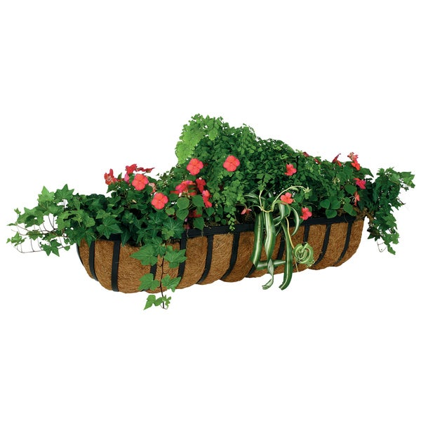 "Gardman R943 36"" Forge Wall Trough Planter"