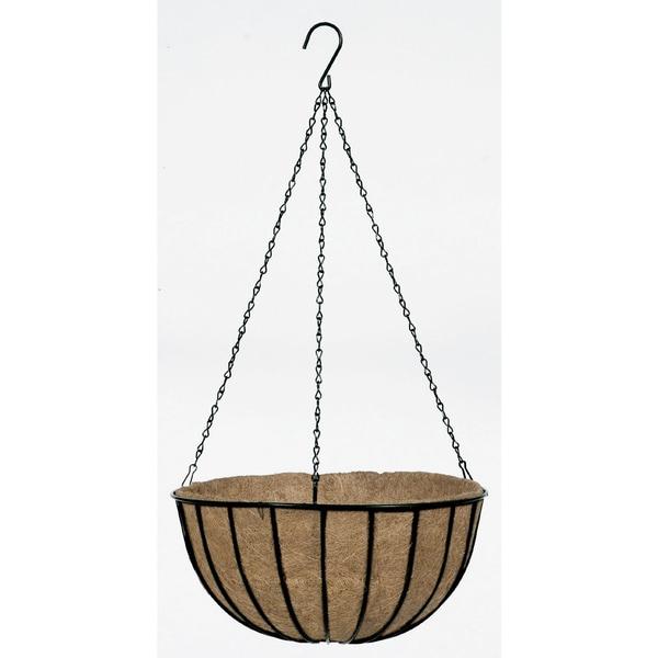 "Gardman R407 12"" Black Traditional Hanging Basket & Liner"