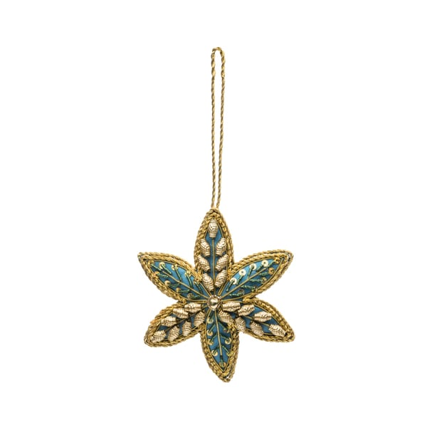 Embellished Star Ornament - Blue