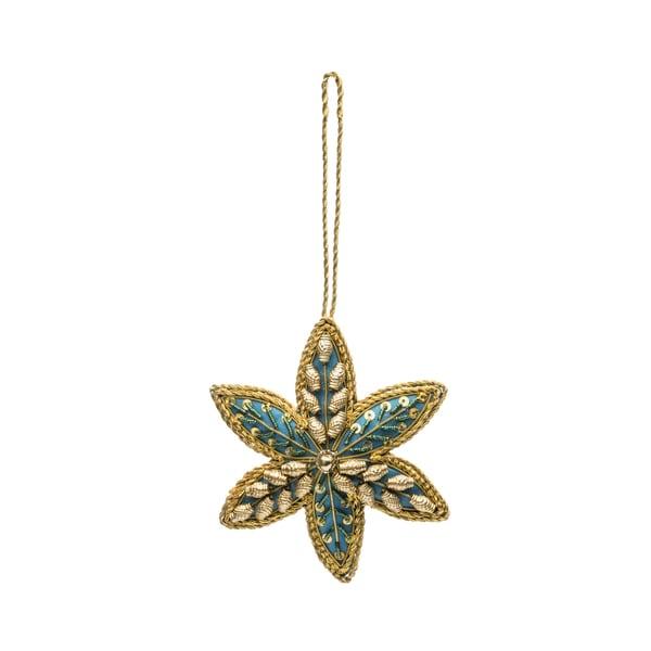 Embellished Star Ornament - Blue