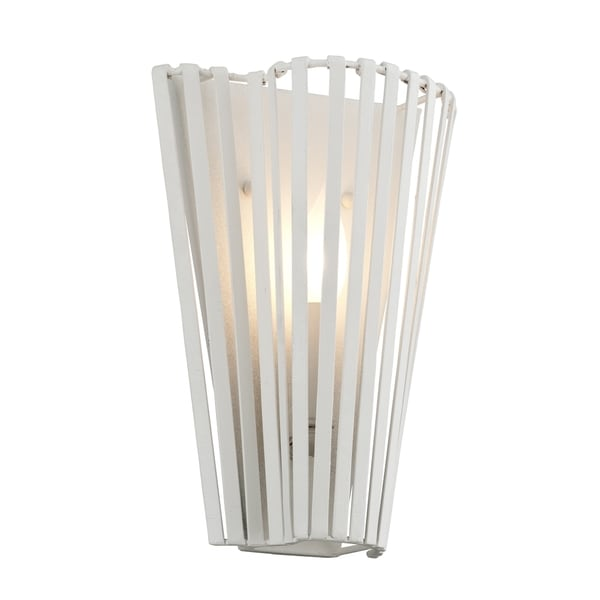 Troy Lighting Tides White Wall Sconce