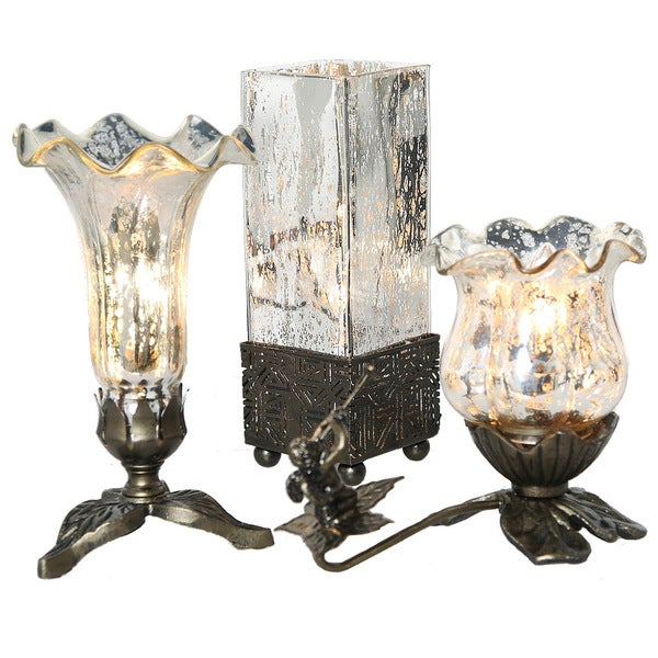 River of Goods Mercury Glass Table Lamps (Set of 3) 21848443