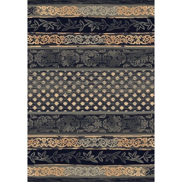 Dynamic Rugs Machine-made Opus Grey Multi Polypropylene Rug (7'10 x 10'10)