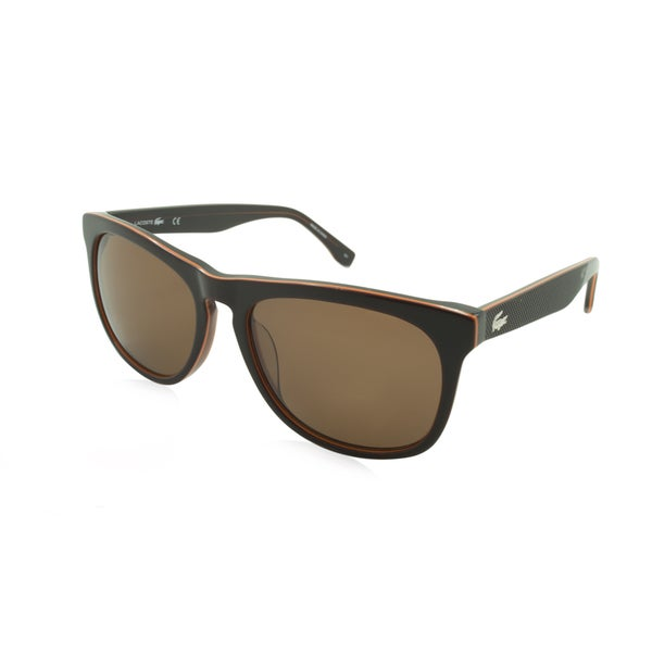 Lacoste L818S-210 Square Brown Sunglasses