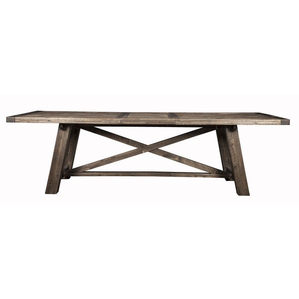 Alpine Newberry Grey Wood Extension Dining Table