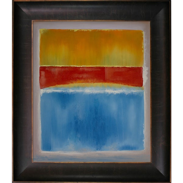 Mark Rothko 'Untitled (Yellow, Red And Blue), 1953' Hand Painted Framed Oil Reproduction on Canvas
