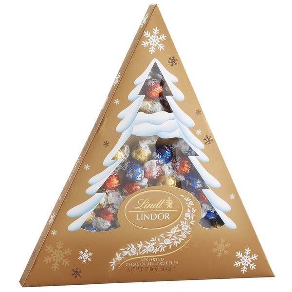 Lindt Lindor 17.8-ounce Assorted Holiday Tree Box