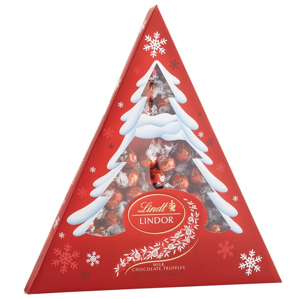 Lindt Lindor 17.8-ounce Milk Chocolate Holiday Tree Box