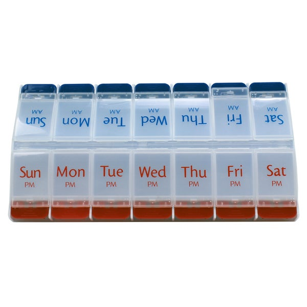 14-day AM/PM Pill Dispenser Reminder
