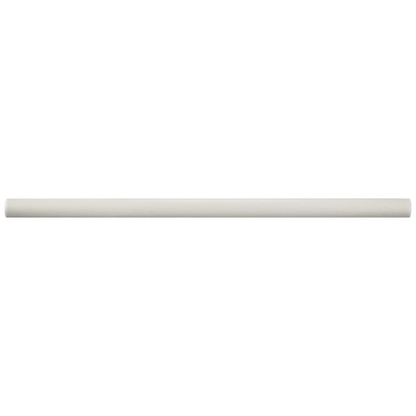 SomerTile 0.5x12-inch Gloucester Matte Bianco Demi-Bullnose Ceramic Wall Trim Tile (5/Pack, 0.21 sqf 21868913
