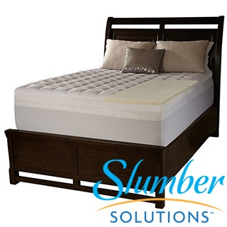 Slumber Solutions 4-inch Memory Foam and 1.5-inch Fiber Mattress Topper