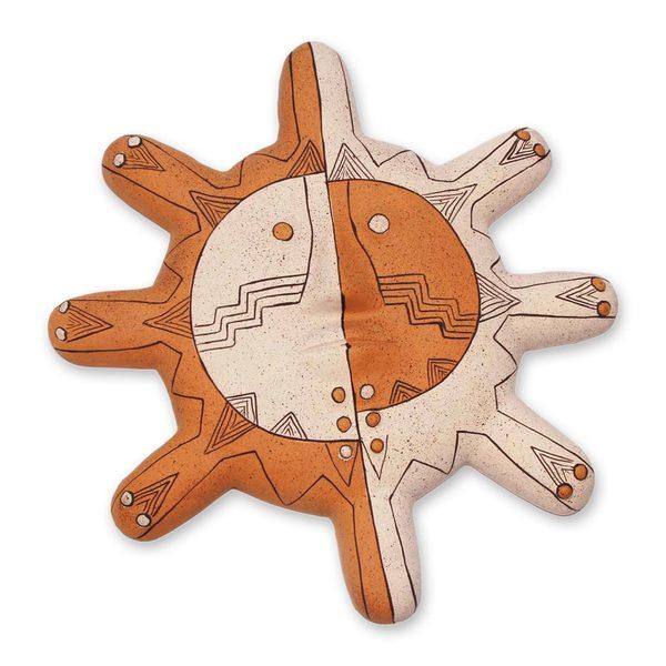 Nazca Sun Ceramic Mask (Andes)