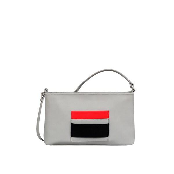 Mellow World Rae Small Grey Faux Leather Crossbody Handbag
