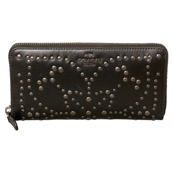 Coach Mini Studs Accordian Zip Wallet
