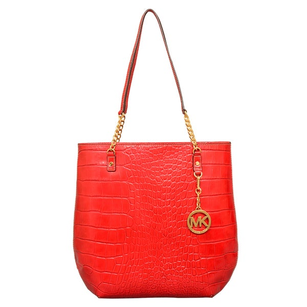 Michael Kors Croc Embossed NS Chain Tote