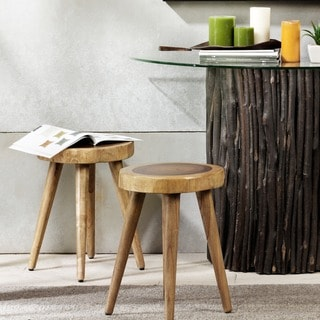 INK+IVY Arcadia Natural Dining Stool (Set of 2)