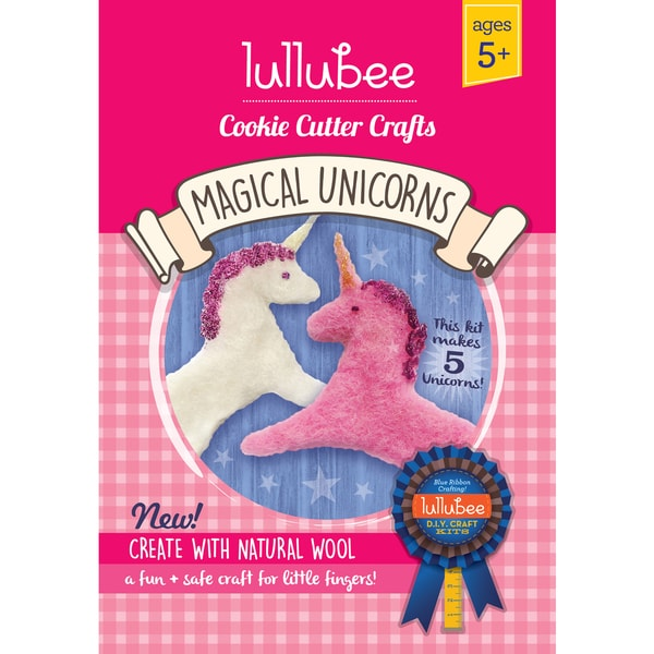 Lullubee Cookie Cutter Unicorn Wool Craft Set