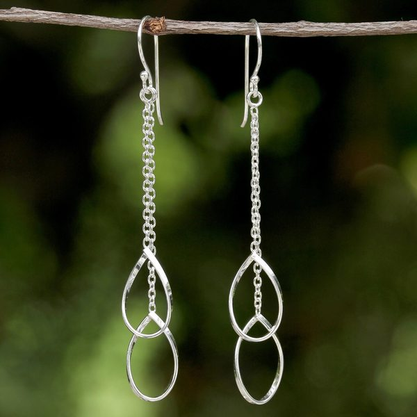 Handcrafted Sterling Silver 'Stirrups' Earrings (Thailand)