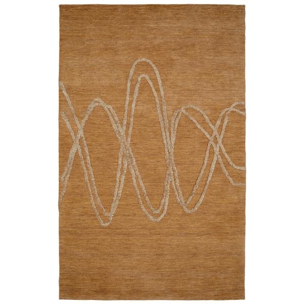Hand Tuffed Soho Beige 80% Wool 20% Viscose Rug (3'6 x 5'6 )
