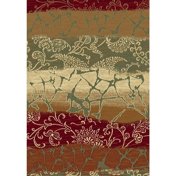 Dynamic Rugs Machine Made Majestic Gold Viscose Runner Rug (2'2 x 7'7) 21896888