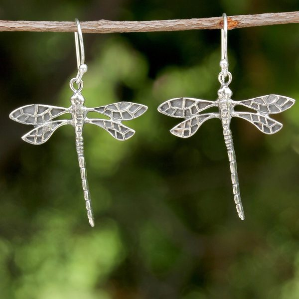 Handcrafted Sterling Silver 'Skyward Wanderers' Earrings (Thailand)
