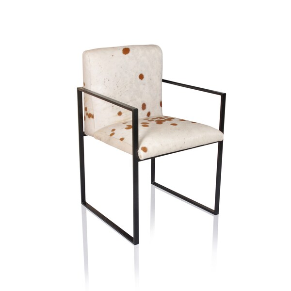Horizon Rome Brown and White Hide Armchair
