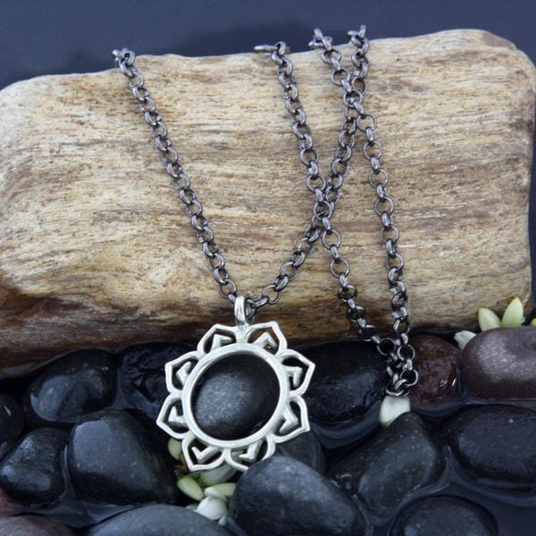 White Lotus Pendant Necklace by Spirit Tribal Fusion (Bali)