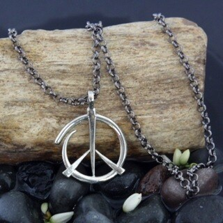 'Give Peace a Chance' Pendant Necklace (Bali)