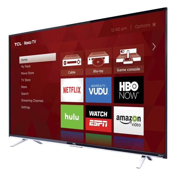 TCL 55-inch 4k Ultra HD 2160p 120Hz Roku Smart LED TV - Refurbished