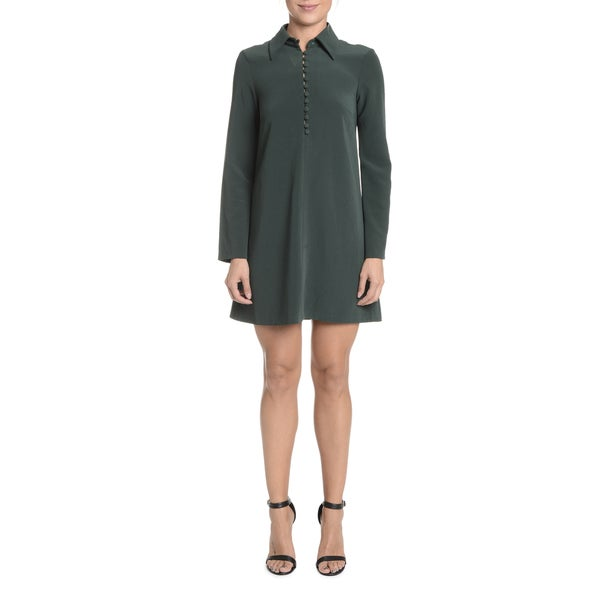 Romeo + Juliet Couture Long-sleeved Dress With Button Detail