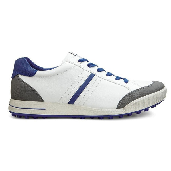 ECCO Street Retro Golf Shoes White/Titanium/Royal
