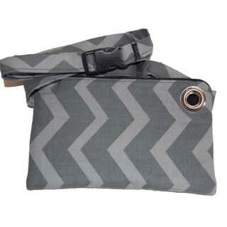 LillyMae Bag Grey Chevron Fanny Pack/ Crossbody Bag
