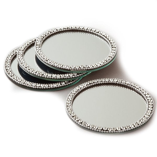 Elegance Brilliant Set of 4 Mirror Coasters