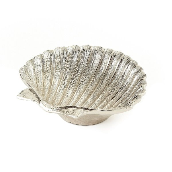 Elegance Nickel Plated Aluminium Shell Dish, 5.5""