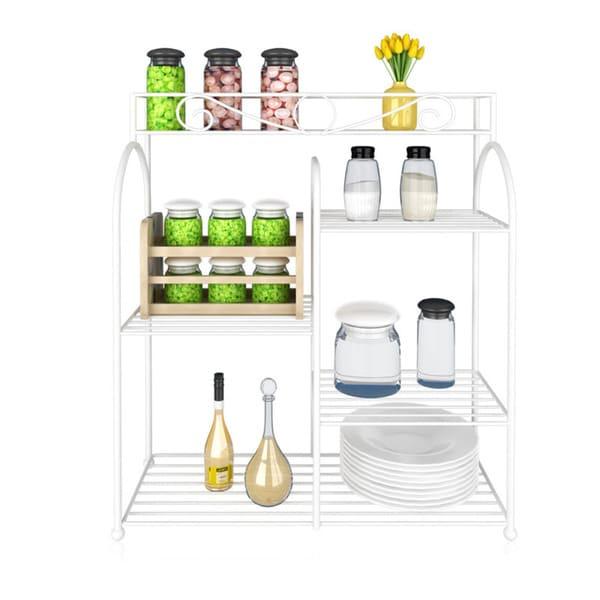 Furinno FNBQ-22133 Yijin Multi-grid Shelving Seasoning Bottles Unit