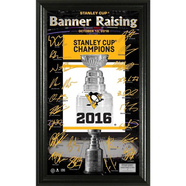 "Pittsburgh Penguins ""Banner Raising"" Signature Photo 21903967"
